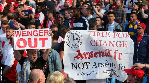 Wenger Out banners