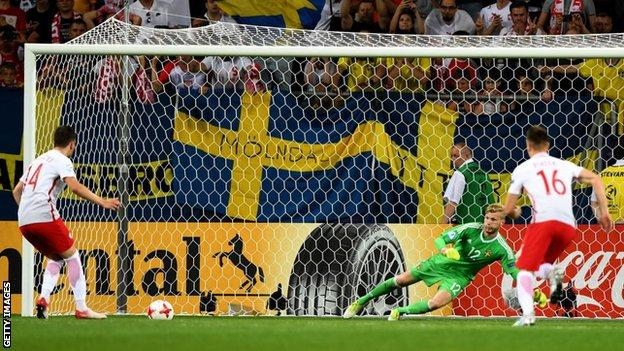 Poland scored a 90th-minute equaliser against Sweden means England just need to win their final group game to reach the last four